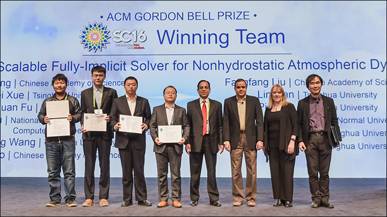 2016 ACM Gordon Bell Prize recipients