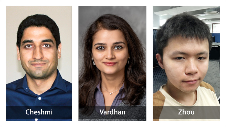 2020 ACM-IEEE CS George Michael Memorial HPC Fellowship recipients Kezem Cheshmi, Madhurima Vardhan and Keren Zhou
