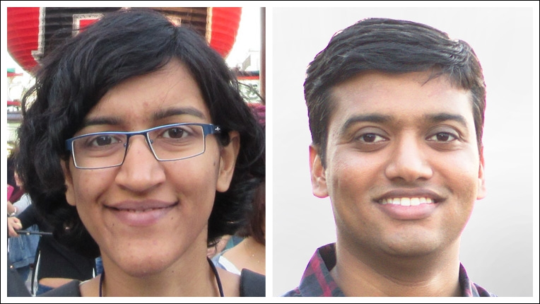 2019 ACM India Doctoral Dissertation Award recipient Keerti Choudhary and Honorable Mention Deepesh Data