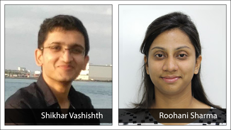 2021 ACM India Doctoral Dissertation Award recipient Shikhar Vashishth and Honorable Mention recipient Roohani Sharma
