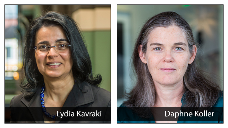 2019 ACM-AAAI Allen Newell Award recipients Lydia E. Kavraki and Daphne Koller