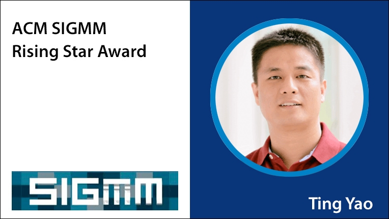 ACM SIGMM Rising Star Award recipient Ting Yao